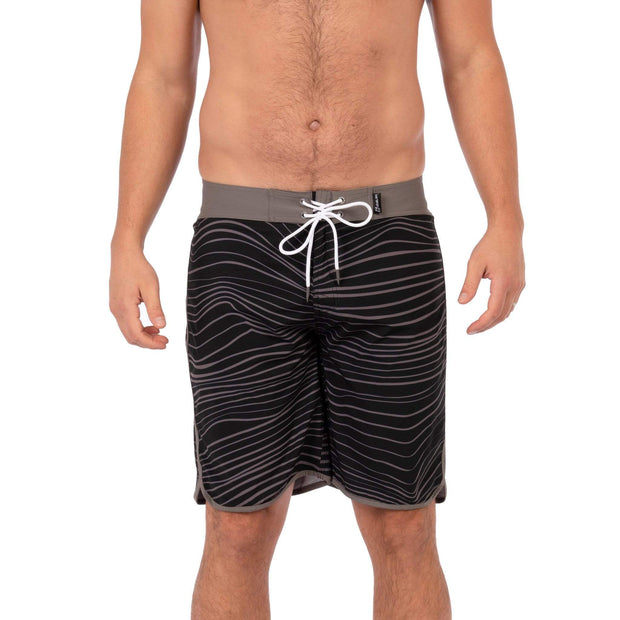 Breaker Boardshorts Boardshorts 30 / Grey / Black Wave Level Six