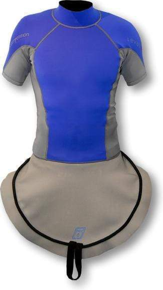 C1 Short Sleeve Neoprene Combi Top Slalom Royal/Charcoal / S Outlet