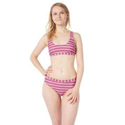 Cypress Bikini Top Lycra BLOCK STRIPES LIGHT PINK / XS Outlet