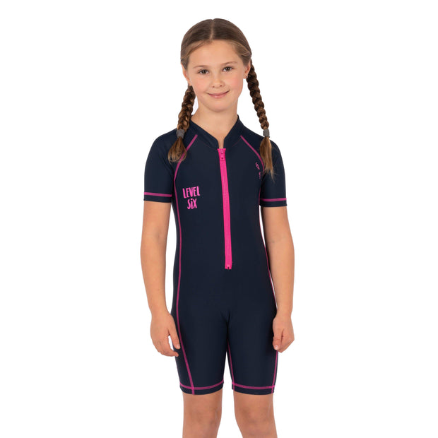 Girl's Aurora Sunsuit Kid's Casual NAVY / 6-9M Level Six