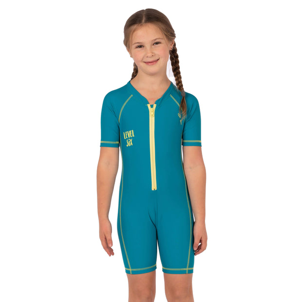 Girl's Aurora Sunsuit Kid's Casual TEAL / 6-9M Level Six