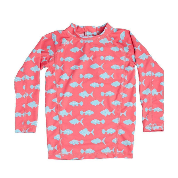 Girl's Stella Long Sleeve Sunguard Kid's Casual 1T / PINK CORAL FISH Outlet