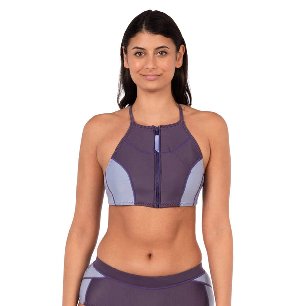 Maya Neoprene Bikini Top Neoprene Swim XS / Purple Level Six