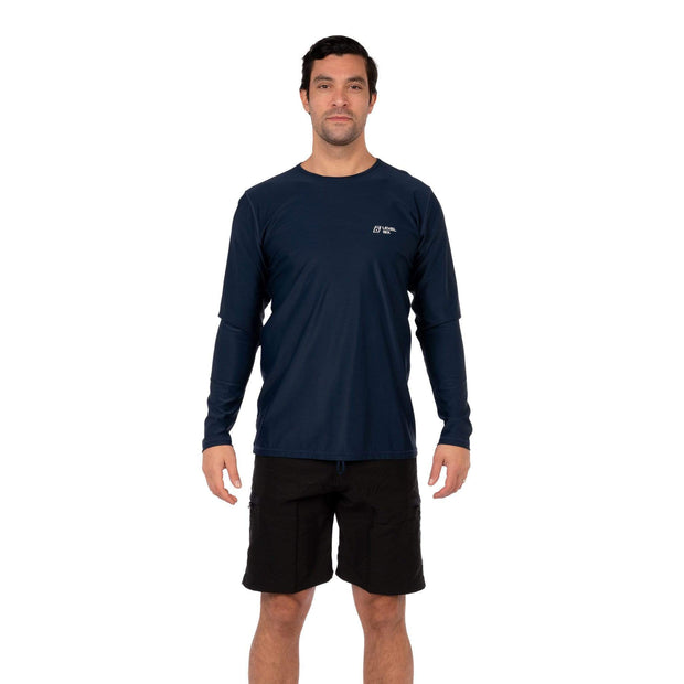 Men's Coastal Long Sleeve Lycra S / Navy Level Six