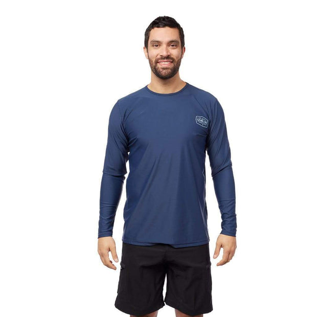 Men's Coastal Long Sleeve Sun Protection Lycra NAVY / S Outlet