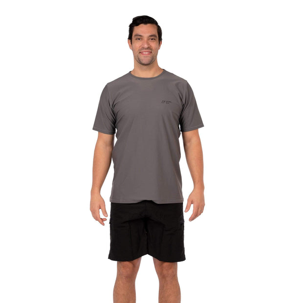 Men's Coastal Short Sleeve Lycra S / Charcoal Level Six
