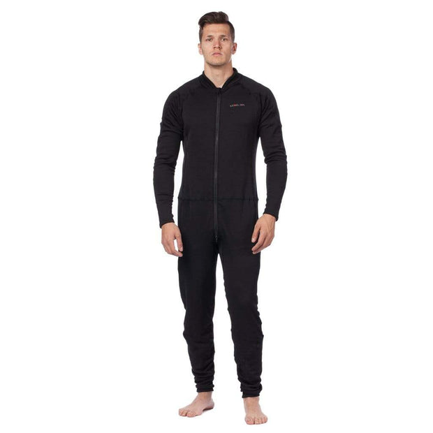Men's Hot Fuzz Fleece Unisuit Mens Sun Protection/Layering BLACK / S Level Six