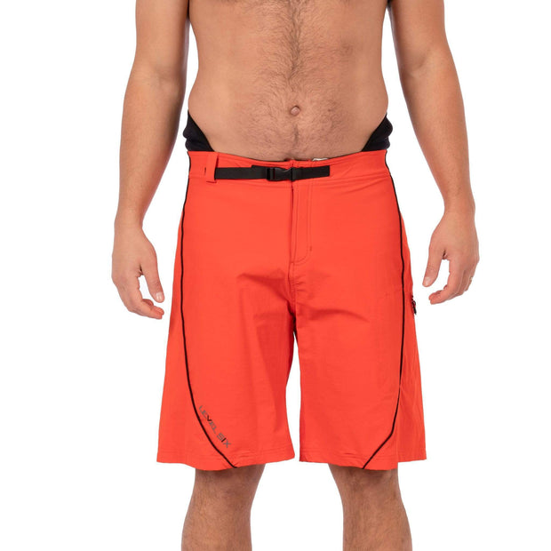 Men's Pro Guide Neoprene Lined Surf Short Boardshorts Blaze Red / 30 Level Six