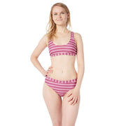 Sunflare Bikini Bottom Lycra BLOCK STRIPES LIGHT PINK / XS Outlet