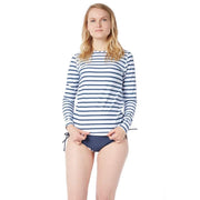 Women's Coastal Long Sleeve Sun Shirt Lycra BLOCK STRIPES NAVY / XS Outlet
