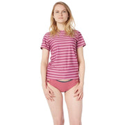 Women's Coastal Short Sleeve Sun Shirt Lycra BLOCK STRIPES LIGHT PINK / XS Outlet
