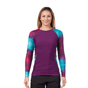Women's Venus Long Sleeve Rash Top Womens Sun Protection/Layering DARK PURPLE / XS Level Six