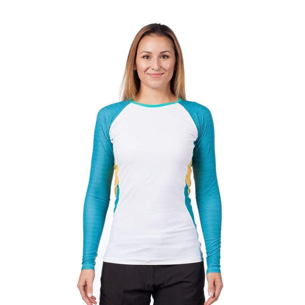 Women's Venus Long Sleeve Rash Top Womens Sun Protection/Layering WHITE / XS Level Six