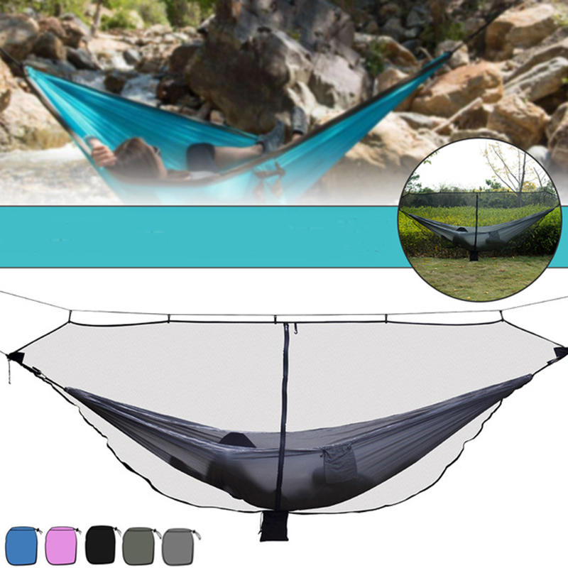 360° Protection Hammock Mosquito Net for Outdoor Hiking Backpacking Camping