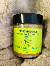 Load image into Gallery viewer, Chai Body Exfoliant- Vegan Body Polish by Pink Monkey, 8oz