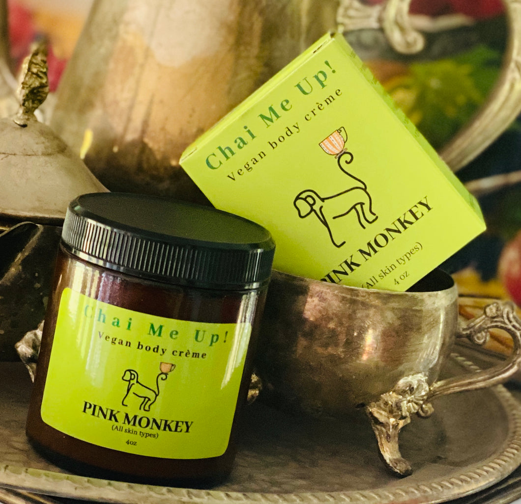Chai Me Up- Vegan Body Crème with Green Tea and Pomegranate by Pink Monkey (4oz) ☕️