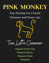 Load image into Gallery viewer, Tea Latte Hydrating Makeup Remover and Face Cleanser by Pink Monkey, 4oz