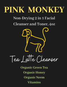 Tea Latte Hydrating Makeup Remover and Face Cleanser by Pink Monkey, 4oz