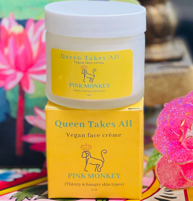 Queen Takes All- Multitasking Vegan Face Crème by Pink Monkey (2oz)