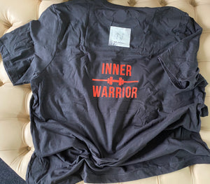 Men's Inner Warrior Black Pure Cotton T-Shirt by Pink Monkey
