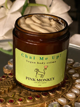 Load image into Gallery viewer, Chai Me Up- Vegan Body Crème with Green Tea and Pomegranate by Pink Monkey, 4oz