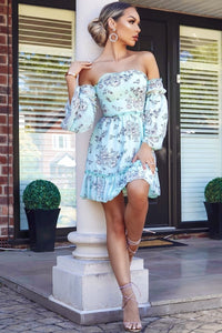 Floral print tiered sleeve dress
