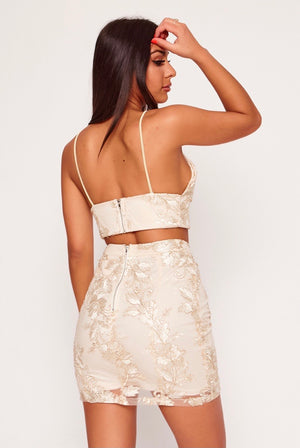 Champagne Sweetheart Sequin Co-Ord