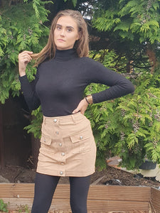 Tan Suedette Skirt by uniquely-sophias