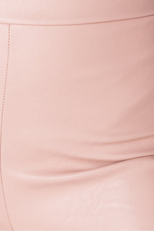 Rose Faux Leather High Waist Jeggings