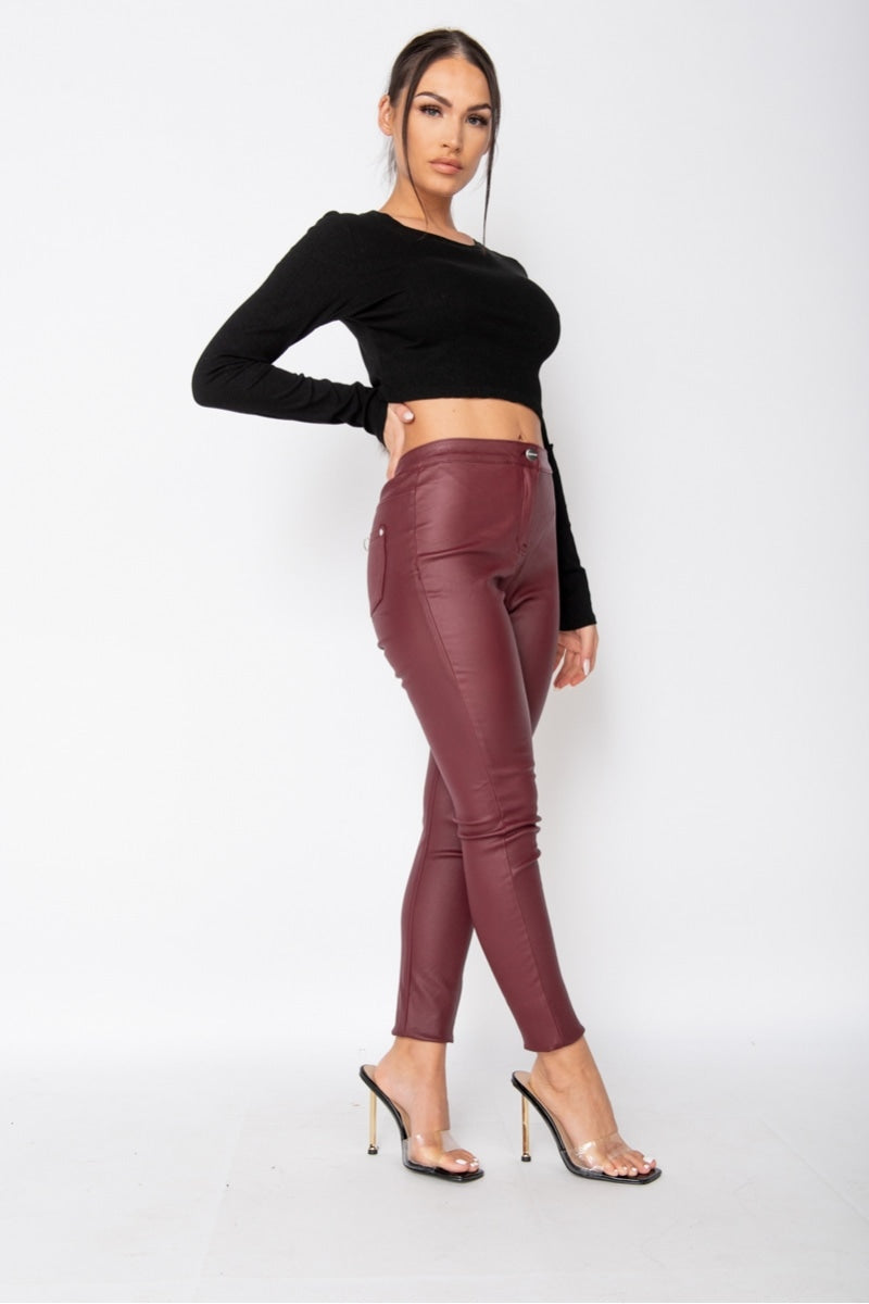 Wine coated Jeggings