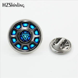 Lapel Pins For Men Brooches Arc Reactor Stainless Steel Collar Pin - KAUBI TRENDING EMPIRE