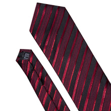 Load image into Gallery viewer, 2019 New Men Tie Red Gold Striped Fashion Designer Ties - KAUBI TRENDING EMPIRE