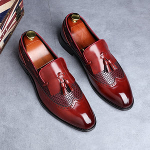2019 Men Tassel Loafers Italian Dress Shoes  for Men Slip-on - KAUBI TRENDING EMPIRE