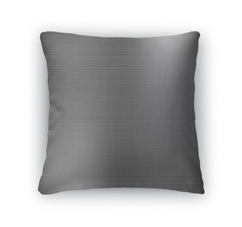 Throw Pillow, Dark Grey Brushed Metal Industrial - KAUBI TRENDING EMPIRE
