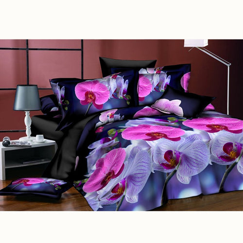 29 Style New Warm Romantic Bedding Pink Blue Rose Flower 3D Bedding Sets King Size Extra Soft Comfortable Home Textiles Bedset - KAUBI TRENDING EMPIRE