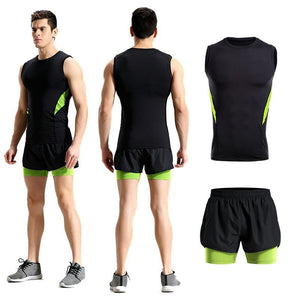 2Pcs Men Tracksuit Gym Set Active Wear - KAUBI TRENDING EMPIRE