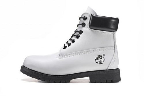 Tims Boots for Women White & Black - KAUBI TRENDING EMPIRE