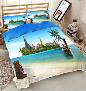 3D Bedding Set king size Twin Queen bedset California king Single Double Bed set Duvet Cover Pillowcase Natural scenery - kaubi-online