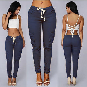 Elastic ladies Skinny Pencil pants - KAUBI TRENDING EMPIRE