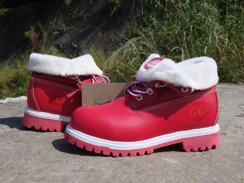 Timberland Boots for Women Red & White - KAUBI TRENDING EMPIRE