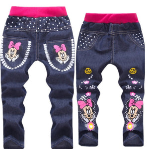 Baby Girl Clothes Cartoon Pattern Printing Clothes Kids Jeans Children Pants Summer Casual Denim Pants Baby Girls Jeans - KAUBI TRENDING EMPIRE