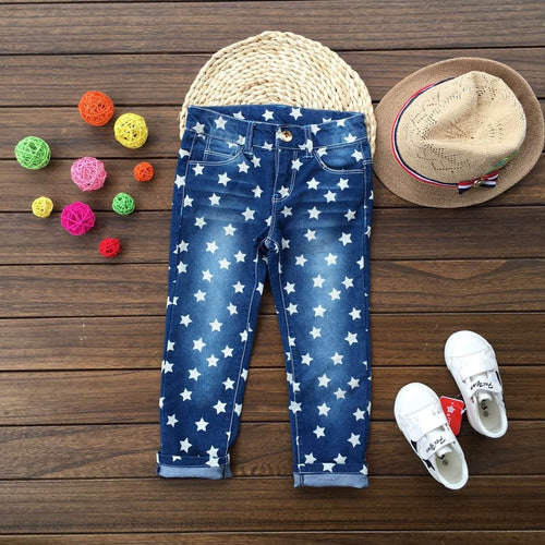 2018 Baby girl jeans full of stars - kaubi-online