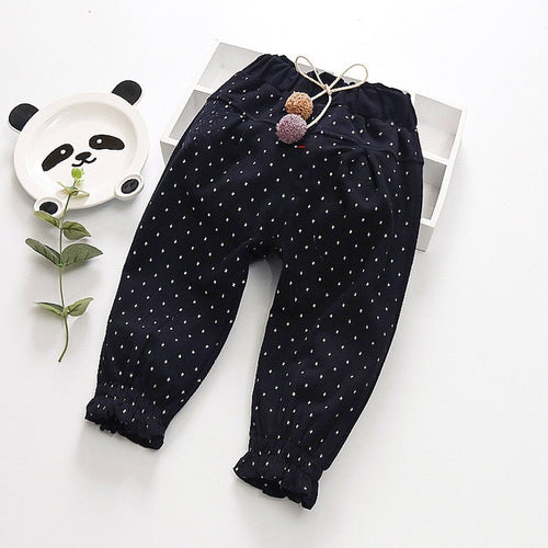 Babyinstar Baby Girls Jeans 2019 Polka Dot toddler Girls Clothing Kids Pants - KAUBI TRENDING EMPIRE