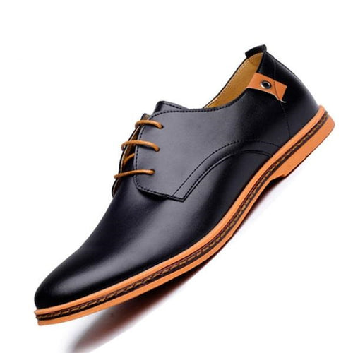 High Quality Men Oxford Leather Shoes - KAUBI TRENDING EMPIRE