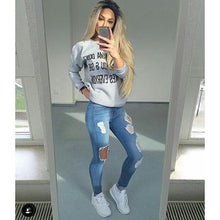 Load image into Gallery viewer, Hole Ripped Jeans Women Pants Cool Denim Vintage Straight Jeans - KAUBI TRENDING EMPIRE