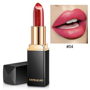 Brand Professional Lips Makeup Waterproof Shimmer Long Lasting Pigment Nude Pink Mermaid Shimmer Lipstick Luxury Makeup Cosmetic - KAUBI TRENDING EMPIRE