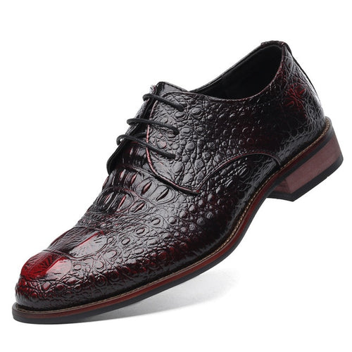British Style Men's Genuine Leather Crocodile Classic Business Shoes - KAUBI TRENDING EMPIRE