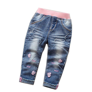 Girls Jeans For Girl Spring Baby Jeans Minnie Girl Kids Pants Boutique 2019 - KAUBI TRENDING EMPIRE
