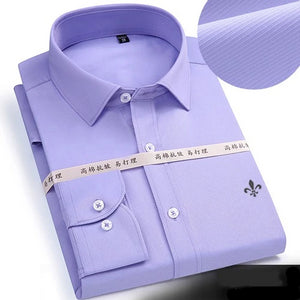 2019 Long Sleeved Solid shirt Slim Fit Male Business Shirt - KAUBI TRENDING EMPIRE