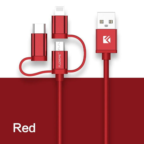 3 in 1 Charging Cable Micro Usb Type C - KAUBI TRENDING EMPIRE